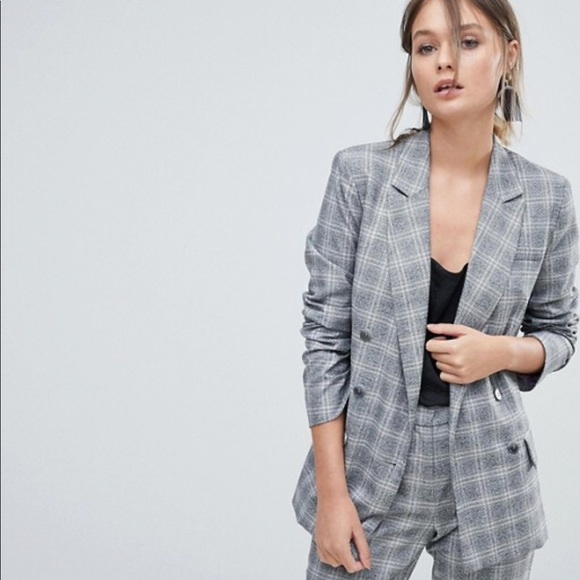 f0ac7f3af8c Asos oasis double breasted check blazer